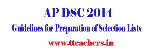 AP DSC Selection Lists Preparation Guidelines