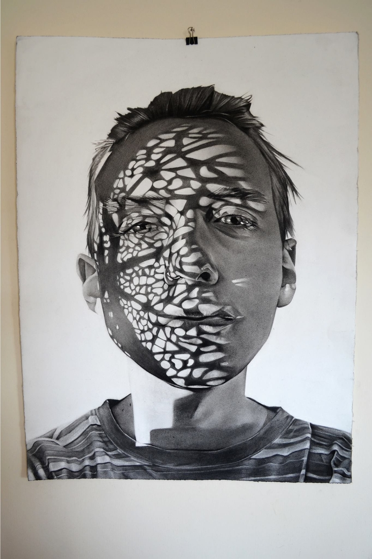 04-Dylan-Andrew-Shadows-and-Textures-Interacting-with-Charcoal-Drawings-www-designstack-co