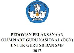 Juknis Olimpiade Guru Nasional Tahun 2017 Untuk Guru SD dan SMP
