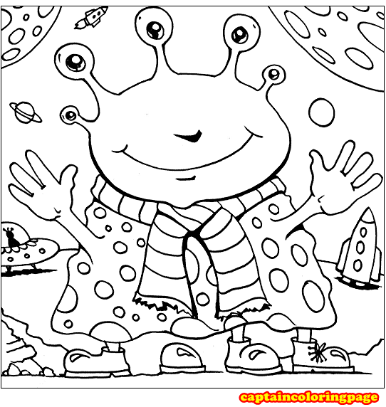 Alien Coloring Pages free Printable - Coloring Page