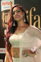 Prajna Actress in bhackless Cream Choli and transparent saree at IIFA Utsavam Awards 2017 026.JPG