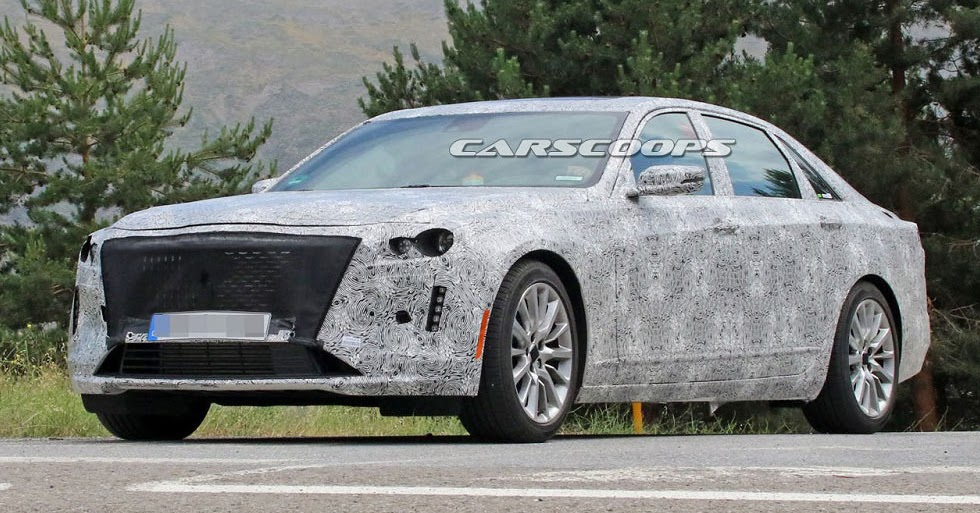 facelifted 2019 cadillac ct6 scooped in europe could come with more power. Black Bedroom Furniture Sets. Home Design Ideas