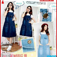 MSF0057 Model Overall Skirt Murah Jeans Fashion BMG
