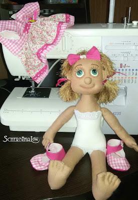 текстильная кукла-карамелька