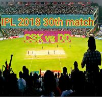 IPL 2018, Cricket Live score, CSK vs DD