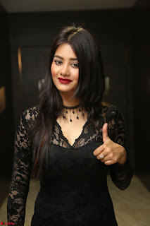Actress Monica in spicy transparent Black Top at O Pilla Nee Valla Movie Audio Launch Feb 2017 022.JPG
