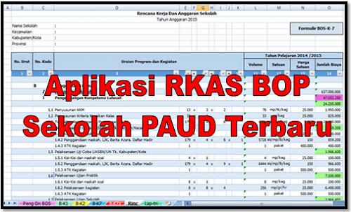 Aplikasi RKAS BOP Sekolah PAUD Terbaru