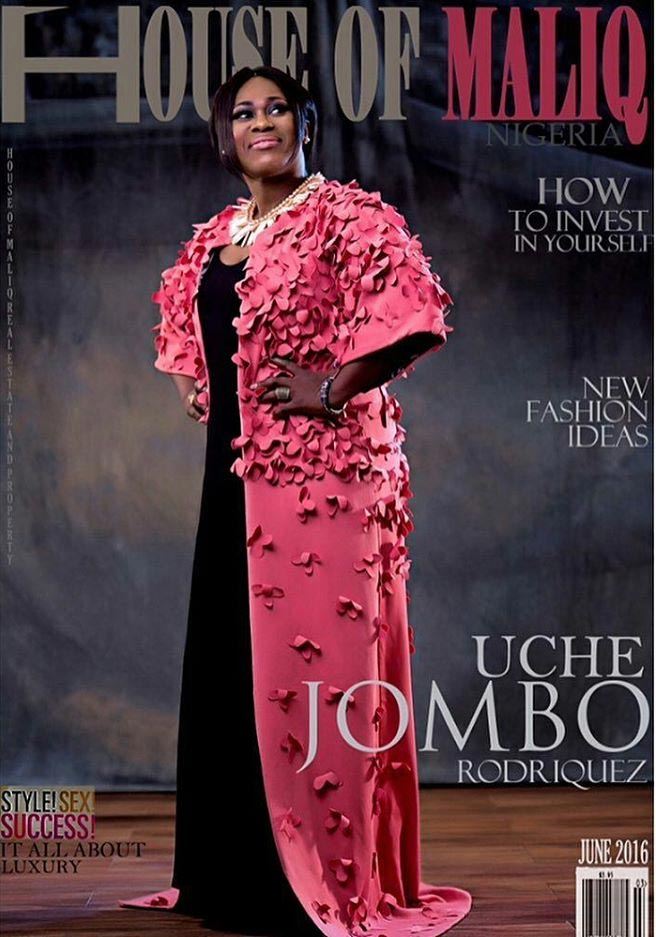 Uche Jumbo covers front page of House Of Maliq magazine