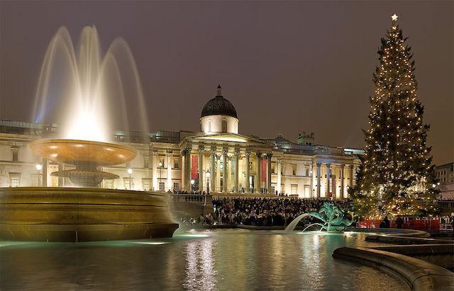 Árvore de Natal na Trafalgar Square