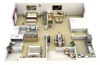 Rumah minimalis dengan beranda