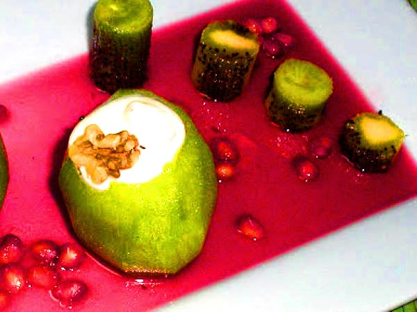 Recetas Con Fruta Granada Kiwis Rellenos De Crema De Queso