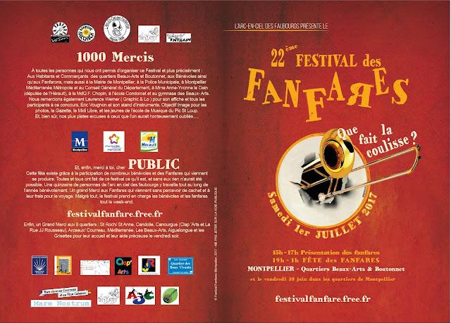Programme 2017 / Que fait la coulisse ? 22ème festival des fanfares de montpellier 30 juin et 01 juillet 2017