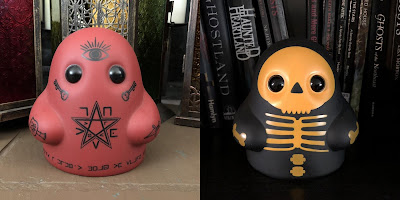 Tiny Ghost Hallows Eve & Reverse Death Cult Edition Vinyl Figures by Reis O'Brien x Bimtoy x Bottleneck Gallery