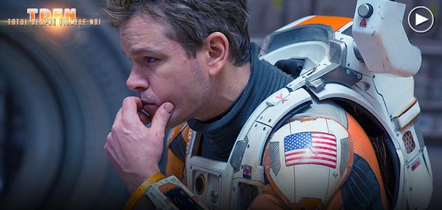 Matt Damon în rolul astronautului Mark Watney: The Martian