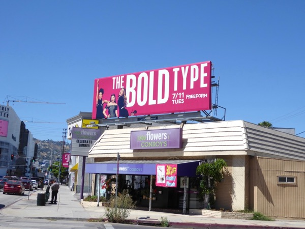 Bold Type TV series billboard