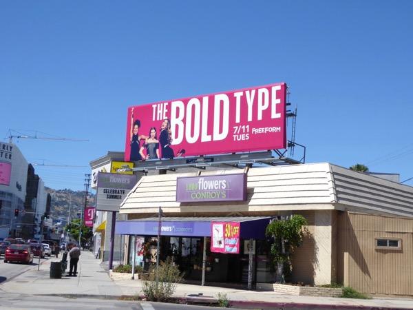 Bold Type TV series billboard