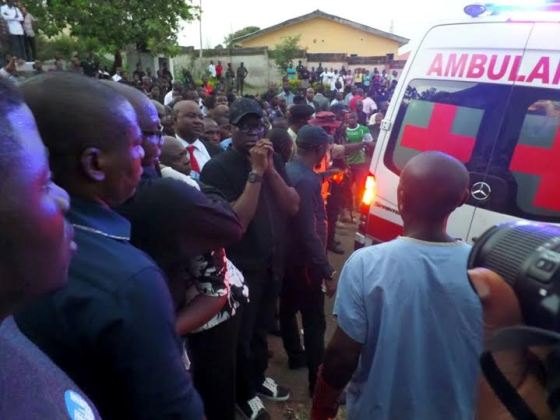 the bodies of the 6 dead Ekiti doctors who were killed in a road accident in kaduna arrives in ekiti