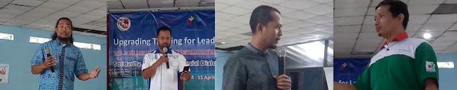 pemateri training leadership Bro Alfasah , Bung Amir , Bro Fauzi , Bro Suherman