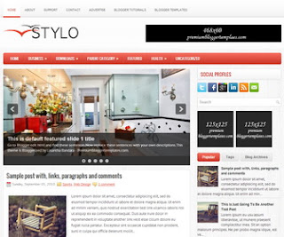 Stylo Blogger Template