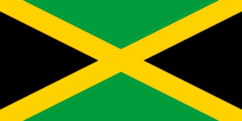 Logo Gambar Bendera Negara Jamaika PNG JPG ukuran 800 px