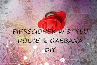 Pierścionek w stylu Dolce & Gabbana