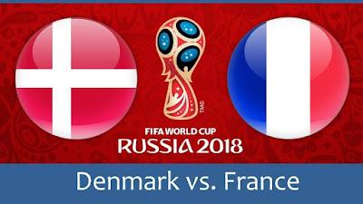 Live Streaming Denmark vs France Piala Dunia 26.6.2018