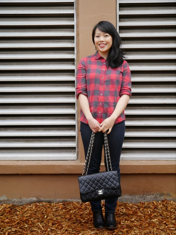 Buffalo plaid and Chanel