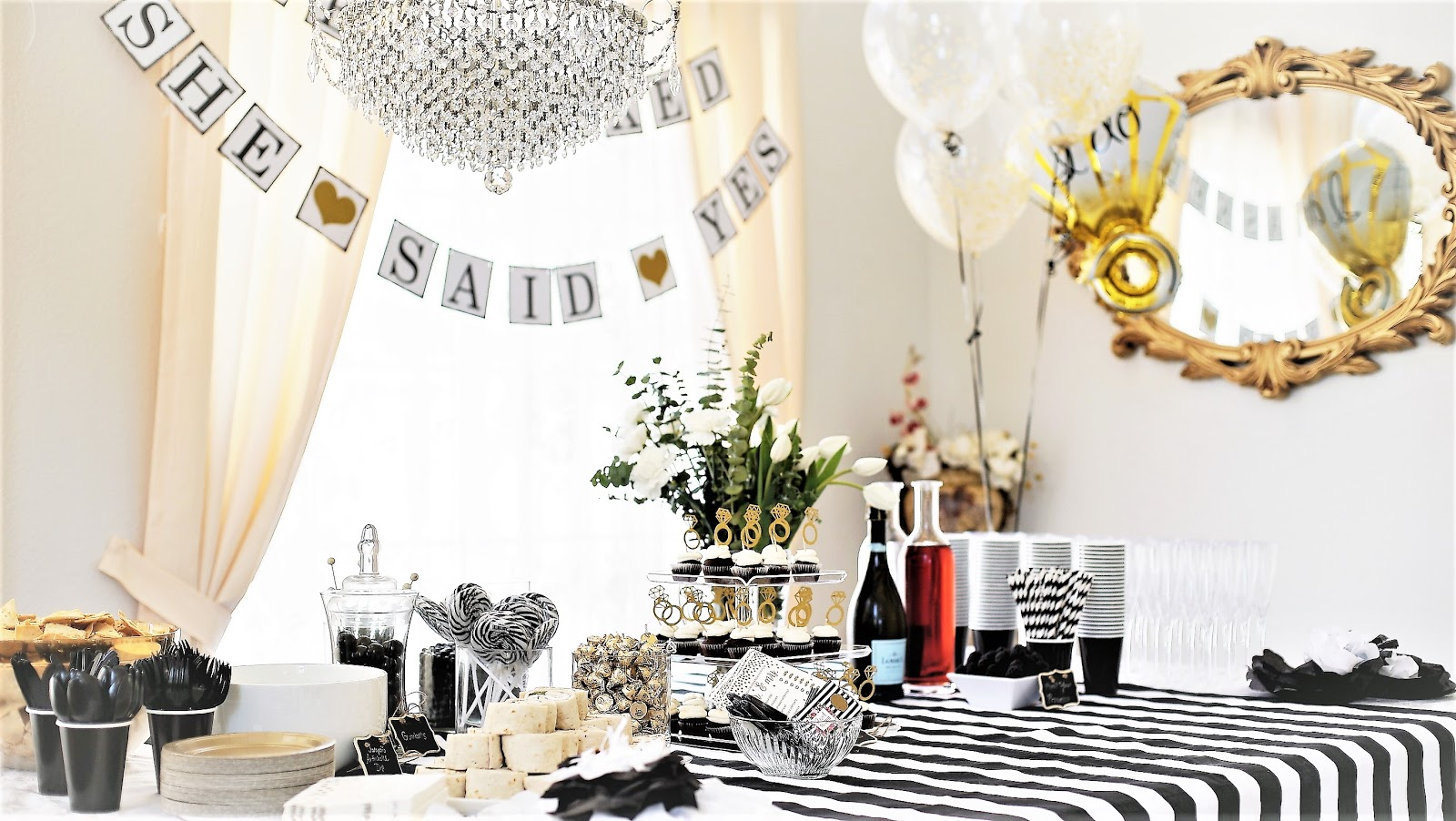 THE URBAN MONARCH: Black, White, & Gold Themed Wedding Shower
