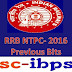 RRB NTPC EXAM - 2016 :: Previous Papers Bits Set-5
