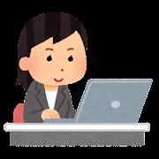 会社で働く人のイラスト(女性)