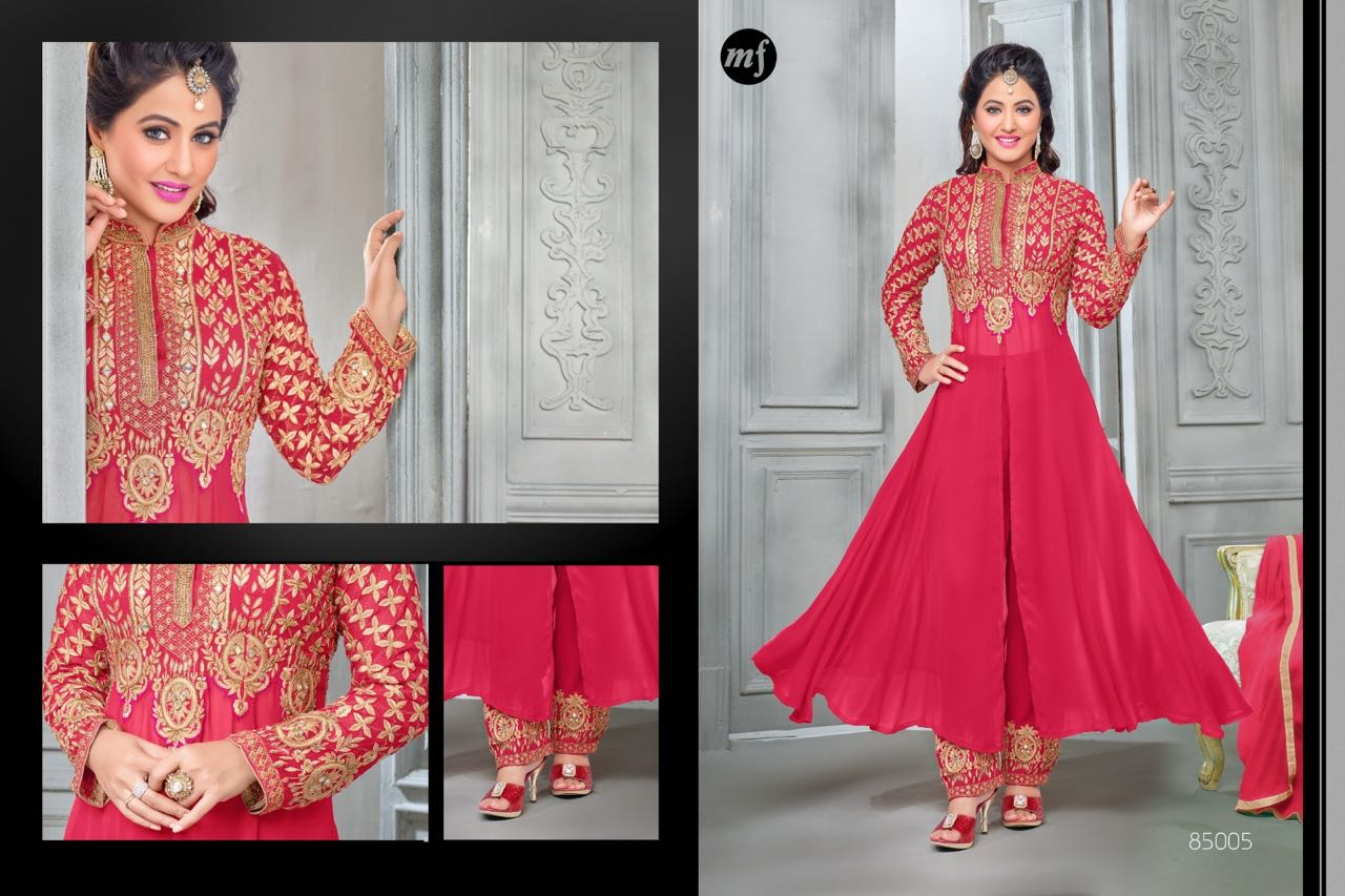 Heenari Vol-6 NX -heavy Georgette Semi Stitched Salwar suit