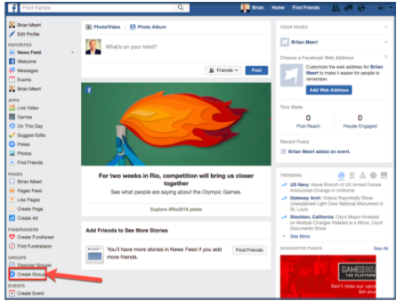 how to create a group on facebook lite