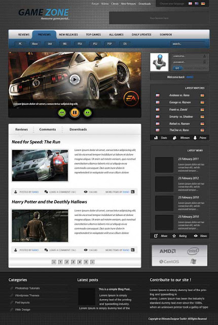 tutoriales photoshop plantilla web