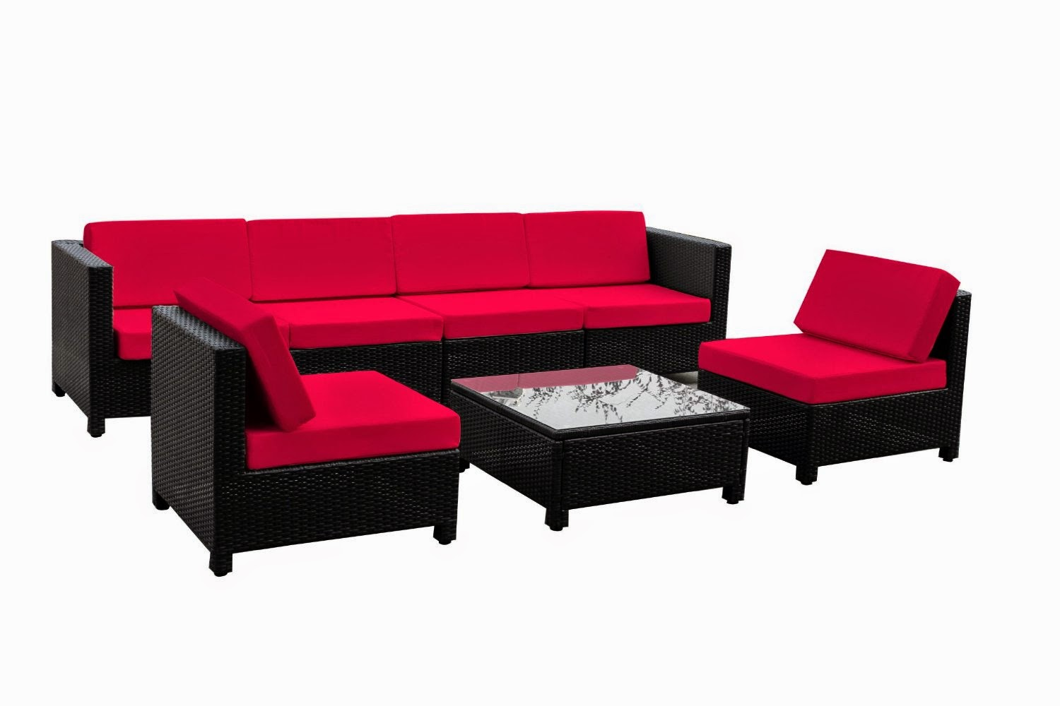 Luxury Wicker Patio Sectional Indoor Outdoor Sofa Furniture set