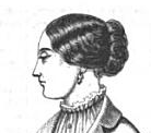 Hair in waved bands, from Harper's, 1851