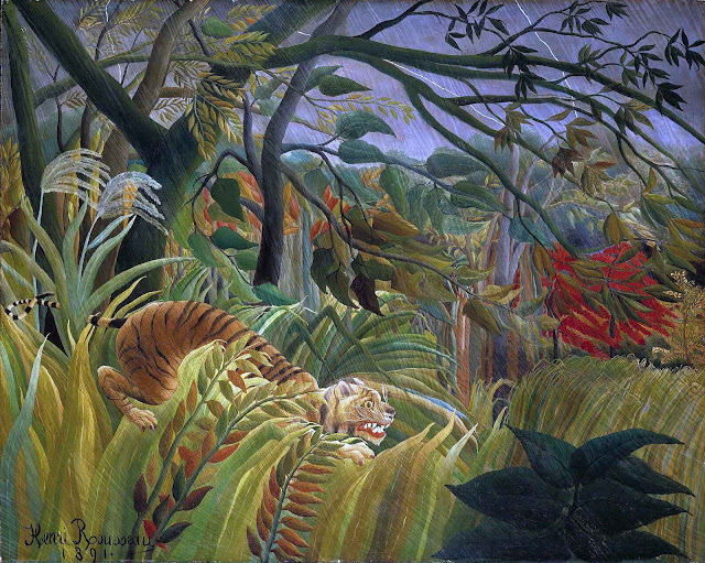 Henry Rousseau 1891, Tiger in a Tropical Storm