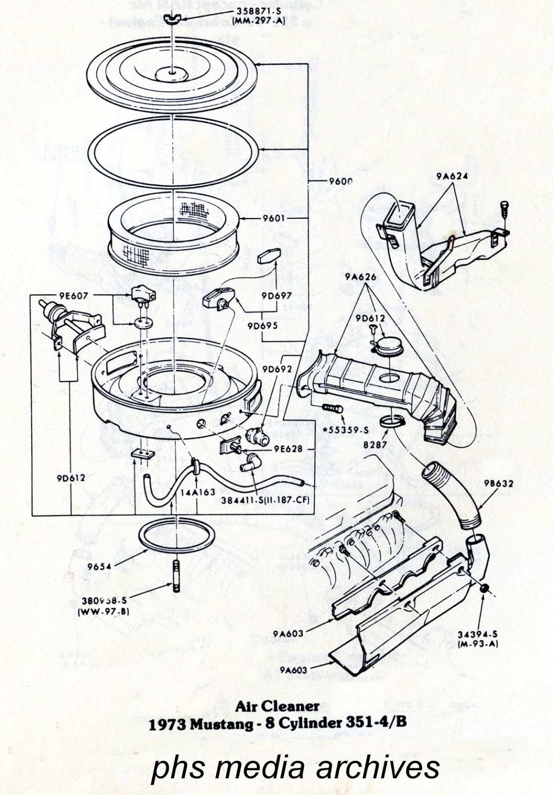 Tech Series Ford Mustang Air Cleaner Id Guide 1971 1973 Boss 429 Engine Diagram By Was Down To Just 4 Engines In The Line 351 Ho Dropped