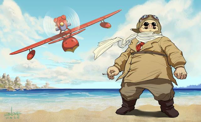 Película de Studio Ghibli Porco Rosso dirigida por Hayao Miyazaki en el año 1992