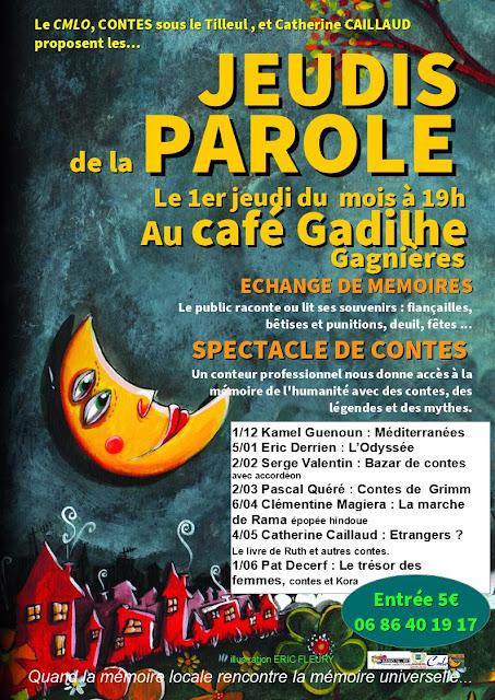 Contes sous le Tilleul au café Gadilhe pendant l'hiver Les jeudis de la parole