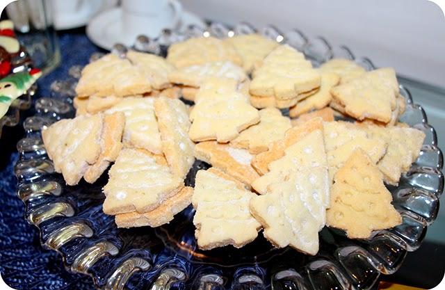 Biscoitos Amanteigados da Confiserie du Chocolat - Mesa de Natal em Azul