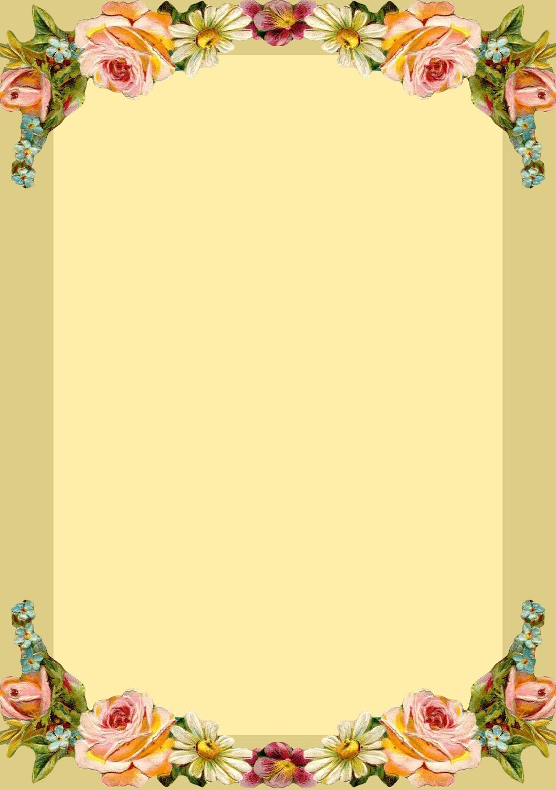 Flower Border For A4 Size Paper Yolarnetonic