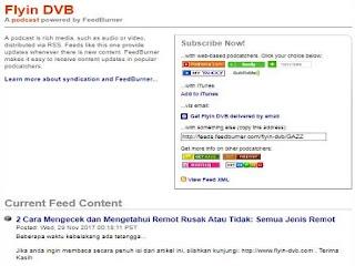 Cara Mengatur Umpan Situs Atau Feed di Blog