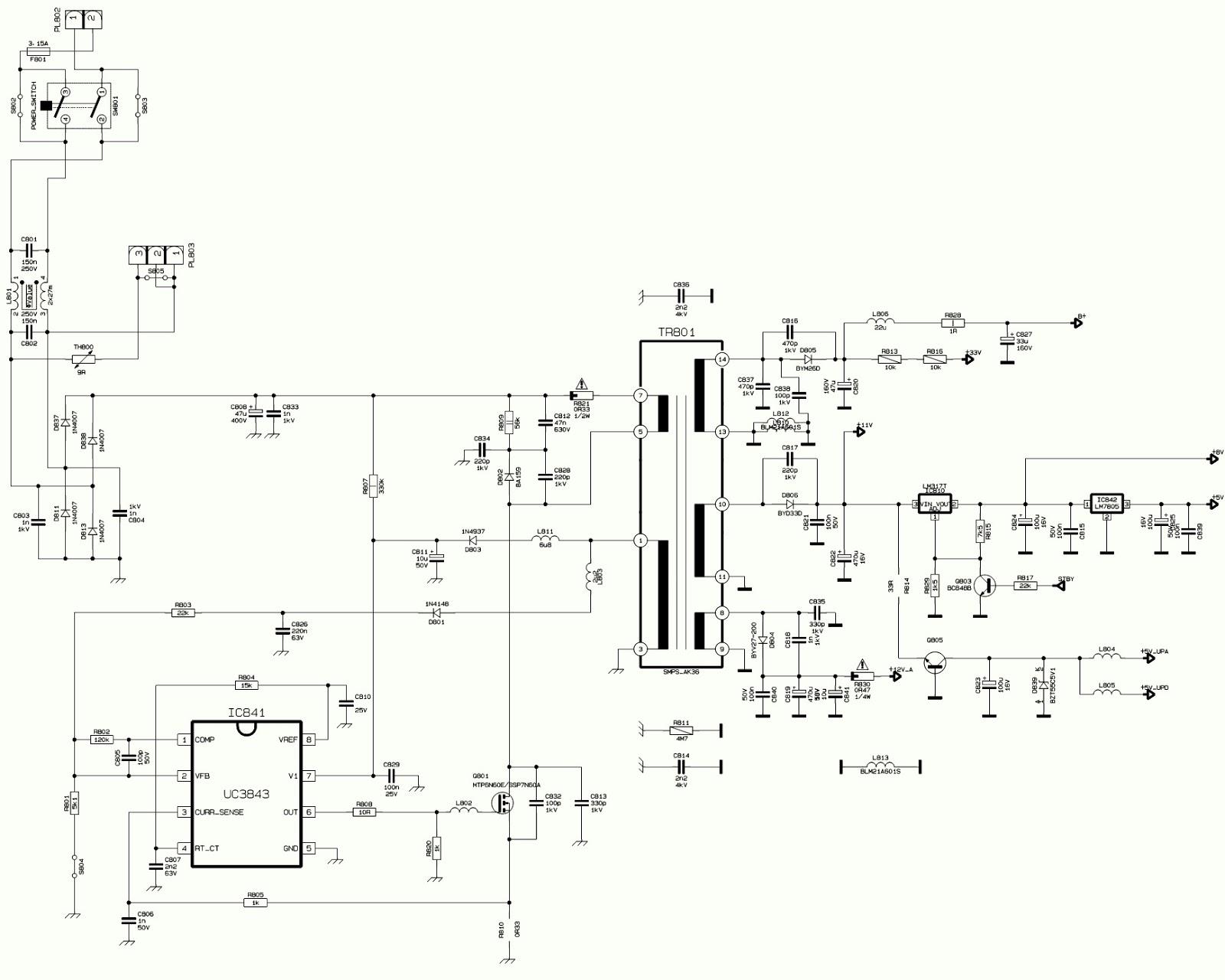 Schematic Diagrams  Vestel 11ak36