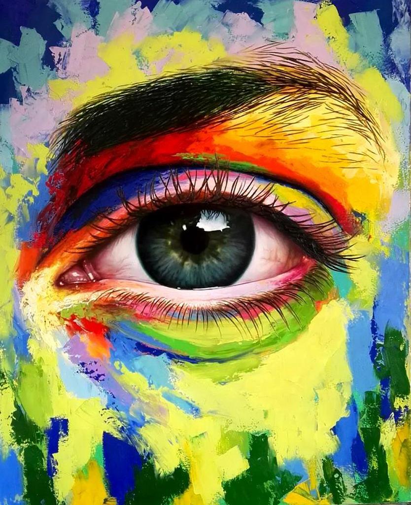 Pintura ojos pictures to pin on pinterest pinsdaddy for Imagenes de cuadros abstractos famosos