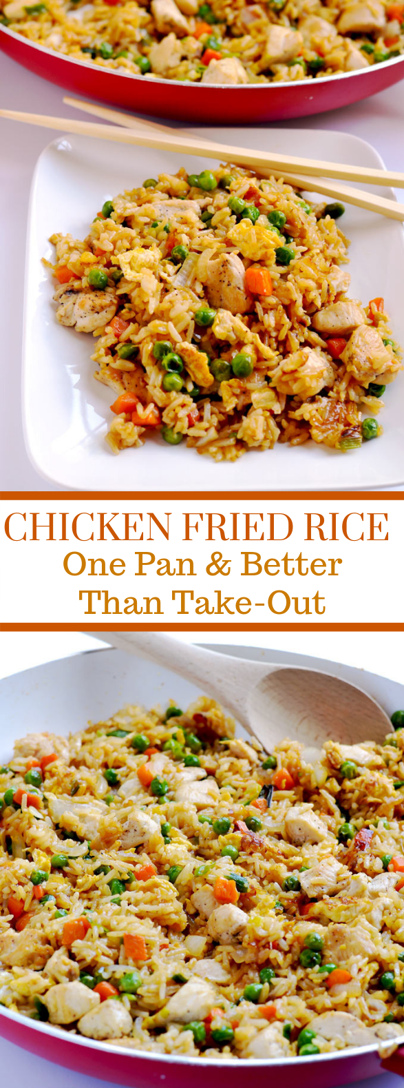 Chicken Fried Rice {better than take-out!} #dinner #weeknight