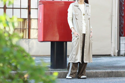 "Needles ""classic shirt dress&baroon pants"""