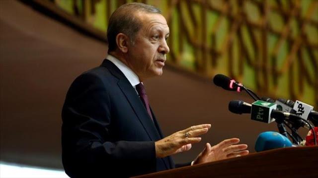 Erdogan: Daesh recibe apoyo logístico y armas desde el Occidente