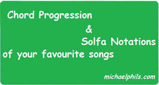 chord progression/ solfa notation of I give myself away
