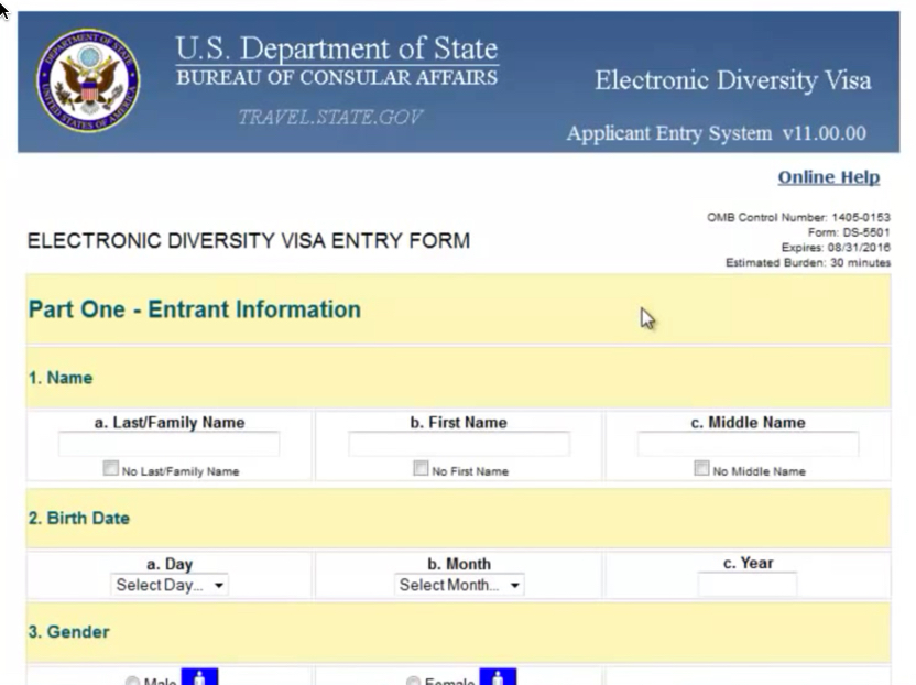 Edv 2019 Nepal, Nepal USA Electronic Visa Application: How to Fill ...