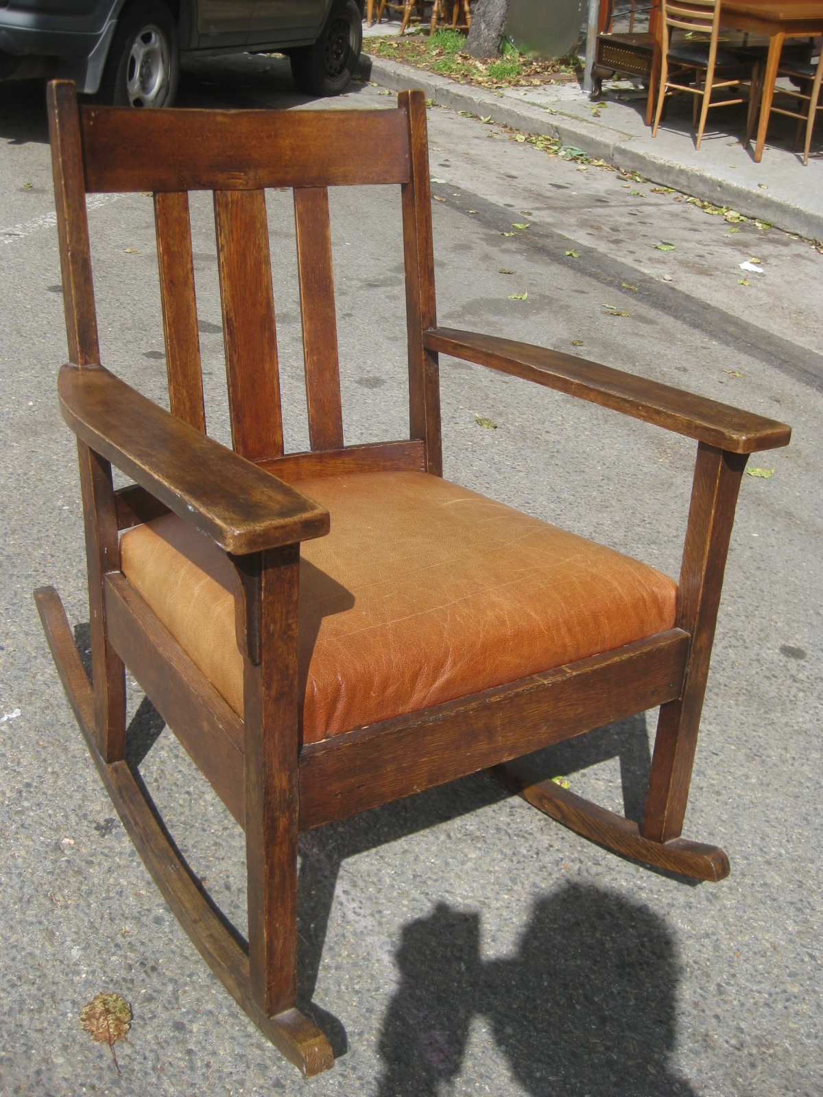 Mission Rocking Chair Uhuru Furniture And Collectibles Sold Mission Rocking